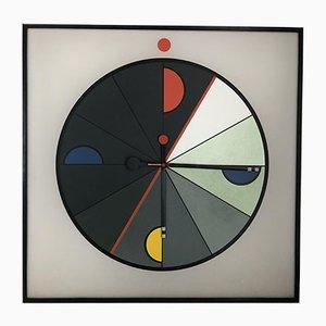 Grande Horloge Murale Memphis d'Acerbis pour Morphos, années 80