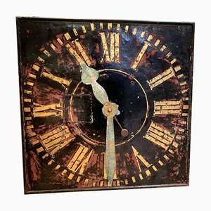Vintage Belgian Tower Clock Face, 1920s