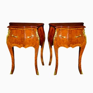 Antique Louis XV Style Walnut Coffee Tables, Set of 2