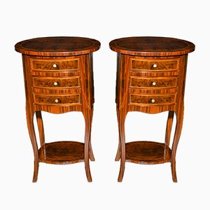 Antique Napoleon III Style Walnut Coffee Tables, Set of 2