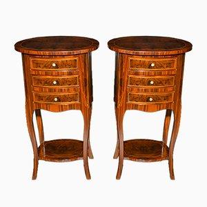 Mesas de centro estilo Napoleón III antiguas de nogal. Juego de 2