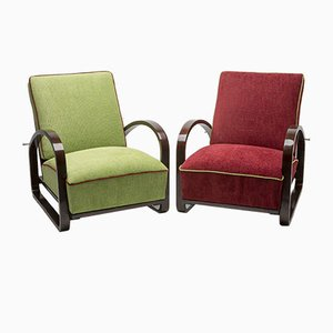 Vintage Armchairs by Jindřich Halabala for UP Závody, Set of 2
