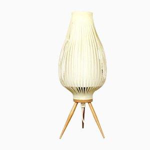 Lámpara de mesa Mid-Century trípode, años 60