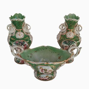 Antique Vase Set from Capodimonte