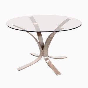 Tavolino da caffè Mid-Century in vetro e metallo di Roger Sprunger, Stati Uniti, anni '60