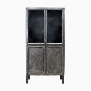 Brushed Metal Cabinet from Kovona, 1953