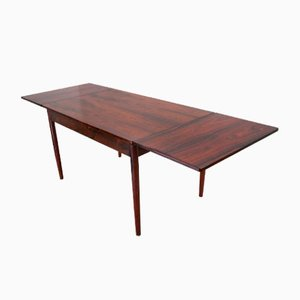 Mid-Century Danish Extendable Rosewood Dining Table, 1960s