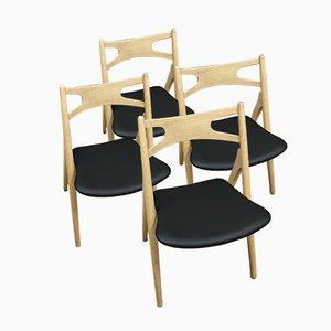 CH29 Sawbuch Dining Chairs by Hans J. Wegner for Carl Hansen & Søn, 1960s, Set of 4