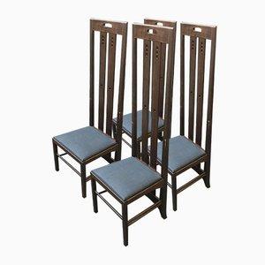 Esszimmerstühle von Charles Rennie Mackintosh für Cassina, 1970er, 4er Set