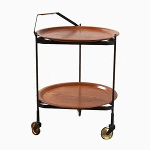 Vintage Swedish Teak and Metal Trolley from Fanerprodukte, 1960s
