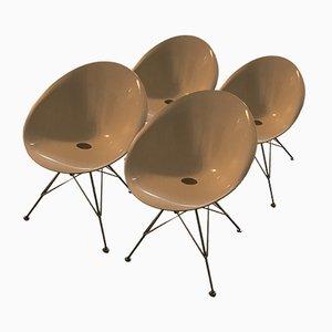 Sillas de comedor modelo Eros de Philippe Starck para Kartell, años 2000. Juego de 4