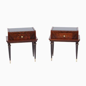 Mid-Century French Rosewood Side Tables, Set of 2