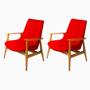 670 Lounge Chairs by Pierre Guariche for Steiner, 1946, Set of 2