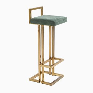 Brass Bar Stools from Maison Jansen, 1970s, Set of 3
