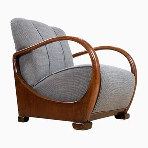 Dutch Art Deco Elm Armchair, 1934