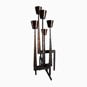 Large Brutalist Style Candlestick, 1950s