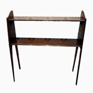 Vintage Zebrano Wood Console