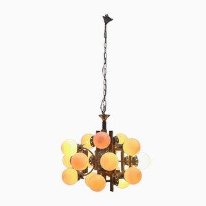 Lámpara de araña era espacial de 18 luces, años 60