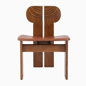Sillas de comedor de cuero coñac de Tobia & Afra Scarpa, años 70. Juego de 4