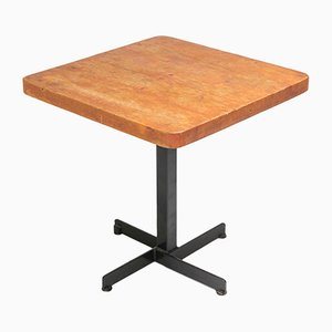 Tavolino da caffè quadrato Les Arcs di Charlotte Perriand, anni '60