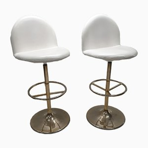 Gold Plated Bar Vinga Stools by Börje Johanson for Johanson Design, 1990s, Set of 2