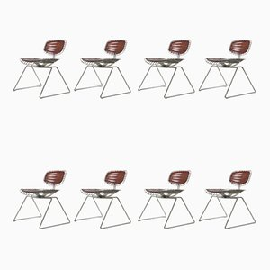 Beaubourg Wire Chairs by Michel Cadestin, 1977, Set of 8