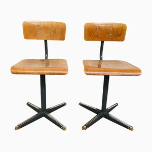 Mid-Century French School Chairs, Set of 2