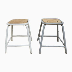 Mid-Century French Workshop Stools, 1950s, Set of 2