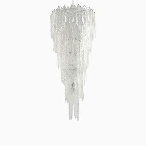 Lampadario grande in vetro di Murano di Mazzega, anni '60