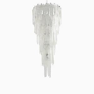Lámpara de araña grande de cristal de Murano de Mazzega, años 60