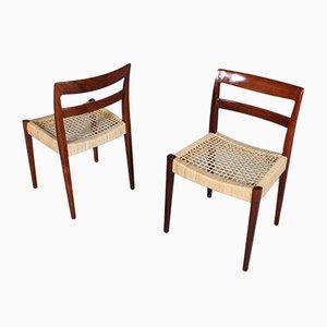 Garmi Esszimmerstühle aus Palisander von Nils Jonsson für Hugo Troeds, 1970er, 4er Set