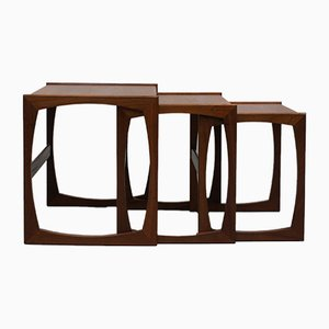 Teak Quadrille Nesting Tables from G-Plan, 1960s, Set of 3