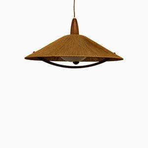 Lámpara de techo de teca de Temde, años 60