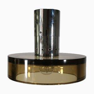 Deckenlampe aus Metall & Glas von Seguso, 1960er