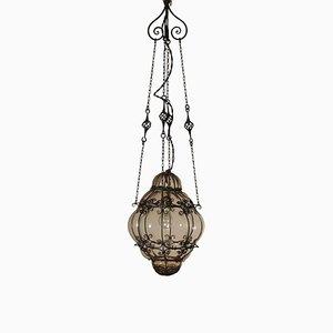 Vintage Laternenlampe aus Eisen