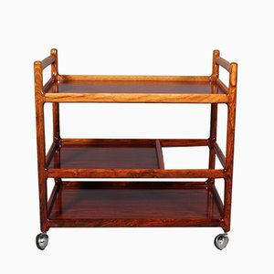 Rosewood Bar Cart by Johannes Andersen for CFC Silkeborg, 1970s