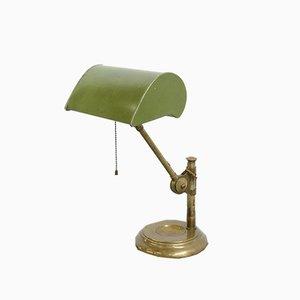 Lámpara de banquero inglesa antigua, años 10