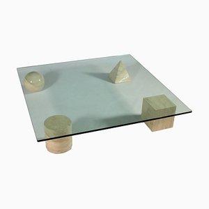 Table Basse Metafora par Massimo et Lella Vignelli pour Casigliani, années 80