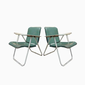 Folding Armchairs by Russel Wright for Samson, 1950s, Set of 2