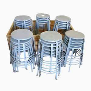 Vintage Factory Stools, Set of 30