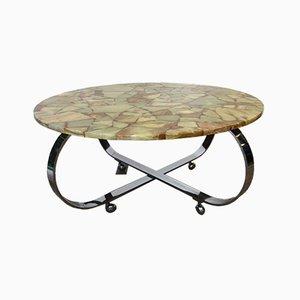 Vintage Stone Plate Coffee Table