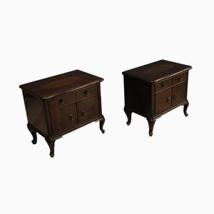Art Deco Nightstands, 1960s, Set of 2