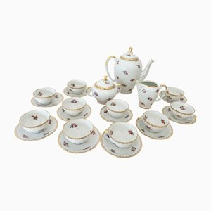 Coffee Set from Veritable Porcelane France S.E.R., 1930s