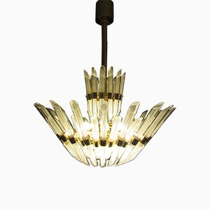 Italian Murano Glass Chandelier, 1977
