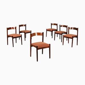 Chaises d'Appoint en Palissandre par Gianfranco Frattini pour Cassina, années 60, Set de 6