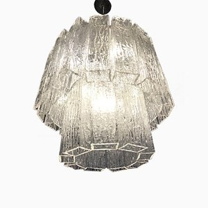 Ice Effect Murano Glass Chandelier, 1960s