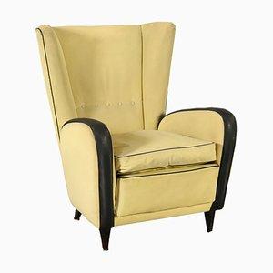 Italienischer Sessel mit Bezug aus Skai, 1950er