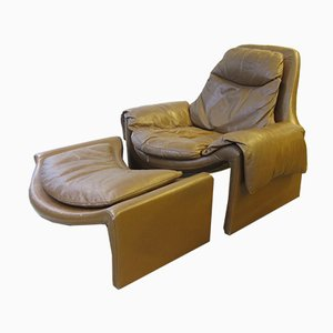 Proposals P60 Lounge Chair and Ottoman by Vittorio Introini for Saporiti, 1960s