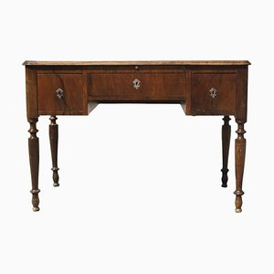 Antique Italian Walnut Plated Desk