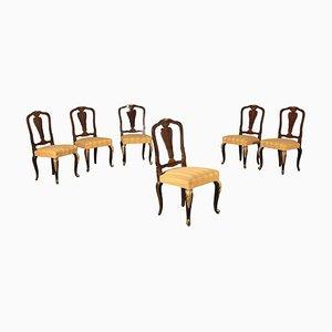 Vintage Esszimmerstühle aus Ahorn & Mahagoni, 6er Set